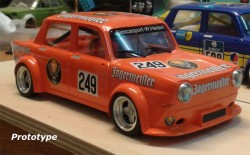 SIMCA 1000 Jagermeister #249 - 300km Nurburgring 1976 - RTR Alum. chassis CAMBER system - BRM MODEL CARS - BRMTTS08