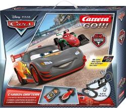 GO!!! - Disney/Pixar - Carbon Drifters - Lightning McQueen vs Francesco Bernoulli - 6,2 m - CARRERA - CRR20062385