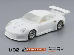 Porsche 991 White racing kit - SCALEAUTO - SCASC-6135