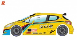 Peugeot 208 cup 2017 yellow/black - SCALEAUTO - SCASC-6178B