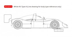RVSRS0041AREVOSLOTFerrari 333SP - White Kit type A (RS0039 and RS0059 style)