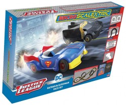 SCTG1143PSCALEXTRICMicro Scalextric Justice League (Mains Powered) - NEW TOOLING 2019