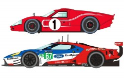 SCTH3893ASCALEXTRIC50 Years of Le Mans Ford GT MKII and GTE - Limited Edtition - NEW TOOLING - SUPERSLOT