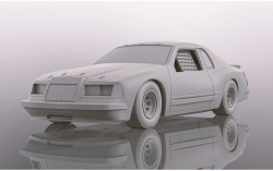 SCTH4077SCALEXTRICFord Thunderbird - White - NEW TOOLING 2019 - SUPERSLOT
